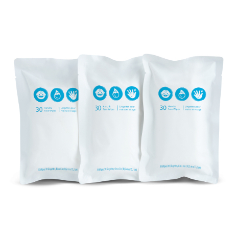 Travel Wipes Refill 3Pack