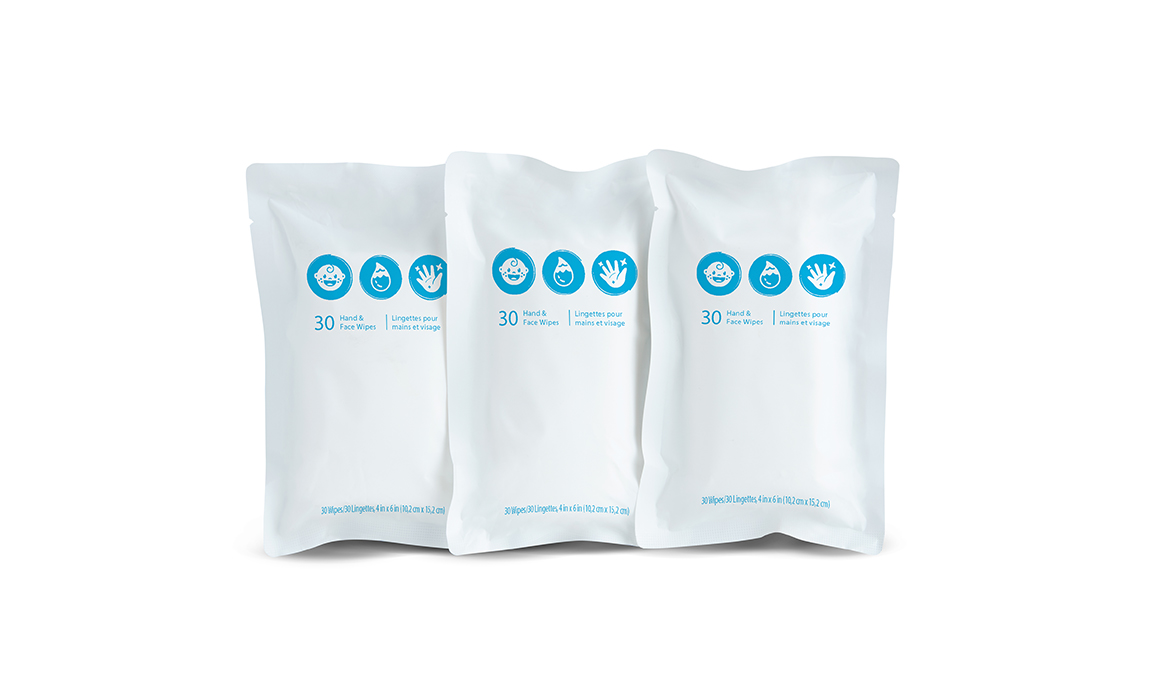 carousel image Travel Wipes Refill 3Pack - 1